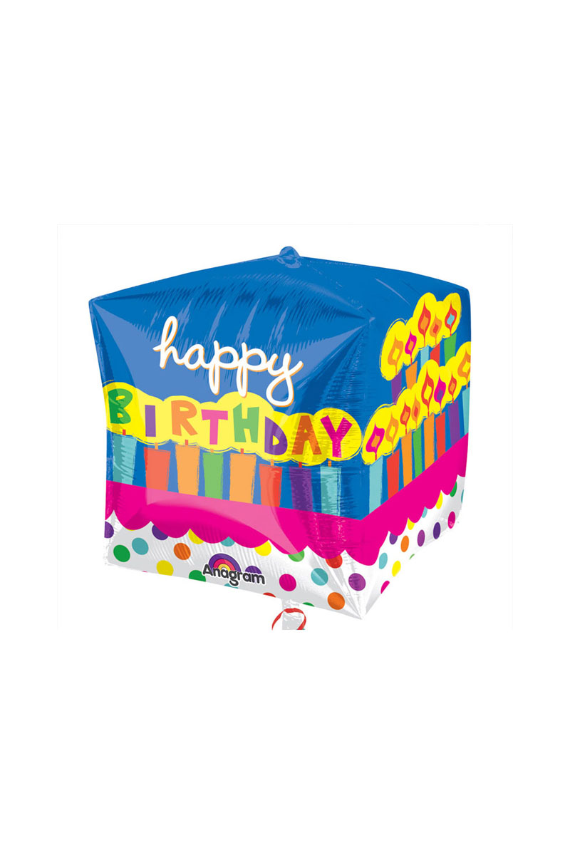 15 Birthday Cake Cubez Foil Balloon