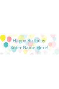 36 x12 western birthday banner with custom name and photo party