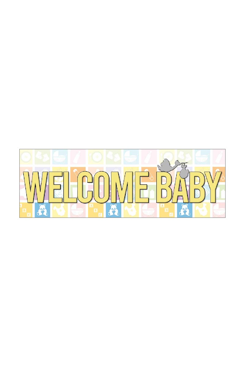 36 X 12 Welcome Baby Banner Party America